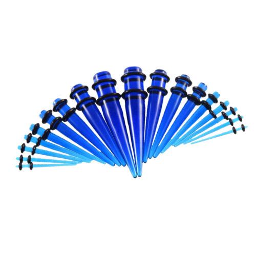 18Pcs Acrylic Ear Taper Stretcher Expanders Kit Earrings Stretching Piercing