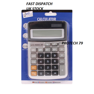 Brand-New-8-Digit-Desk-Calculator-Jumbo-Large-Buttons-Solar-Desktop-Battery