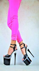 DESIGNER Damenschuhe LACK Club-Party Pumps EXTREM Plateau XXXL GOGO High Heels