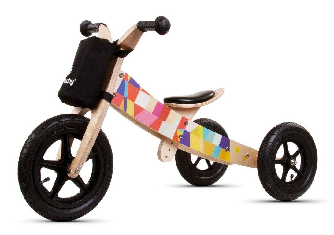 Dreirad Kinderfahrzeug Kinderwagen Fahrrad Holz Kinderfahrrad Laufrad Mosaic