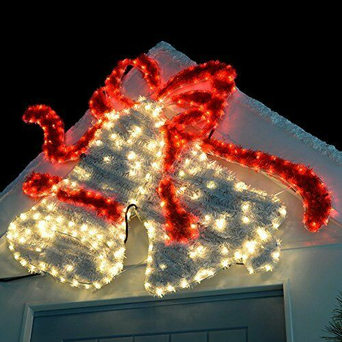 Large Christmas Bells LED Rope Light Tinsel Silhouette ...