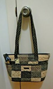 Details about Bella Taylor Tote Purse Medium Patchwork Quilted Browns  Beiges Feet New w/ Tags