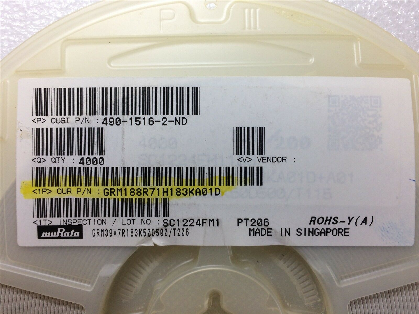 0.1uf 16v X7R 10/% SMD 0603 Ceramic Capacitor *** NEW *** Qty 500