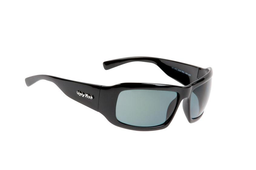 Ugly fish polarisé lunettes de soleil gale PC3088 noir brillant avec fumée lentille