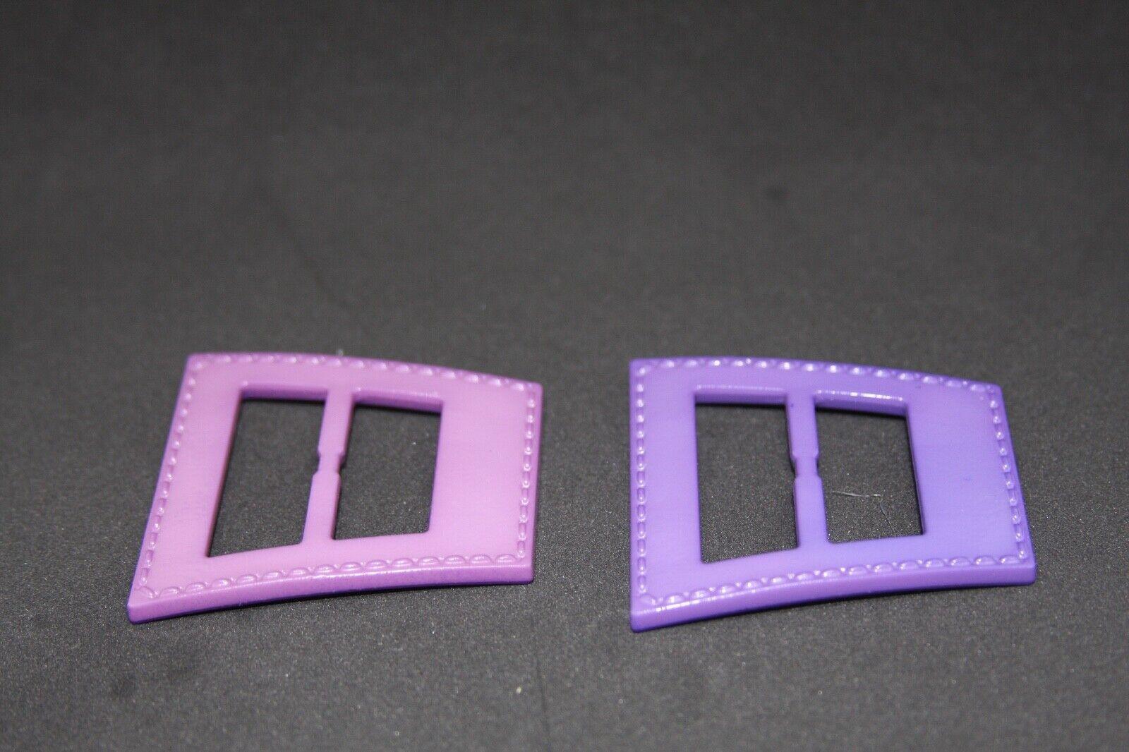 Woman`s purple color, Plastic, Italy, belt buckle 2 pieces