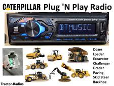 Plug Amp Play Caterpillar Tractor Radio Bluetooth Loader Dozer Excavator Cat