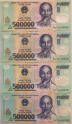 2 1 MILLION VIETNAMESE DONG CURRENCY - VND FAST DELIVERY 500,000 Banknotes