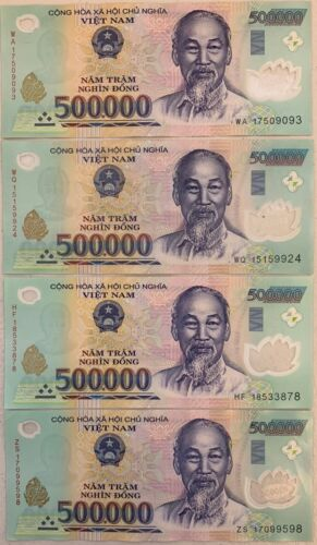 x 500,000 VND Banknotes = 2 MILLION VIETNAMESE DONG CURRENCY FAST DELIVERY 4