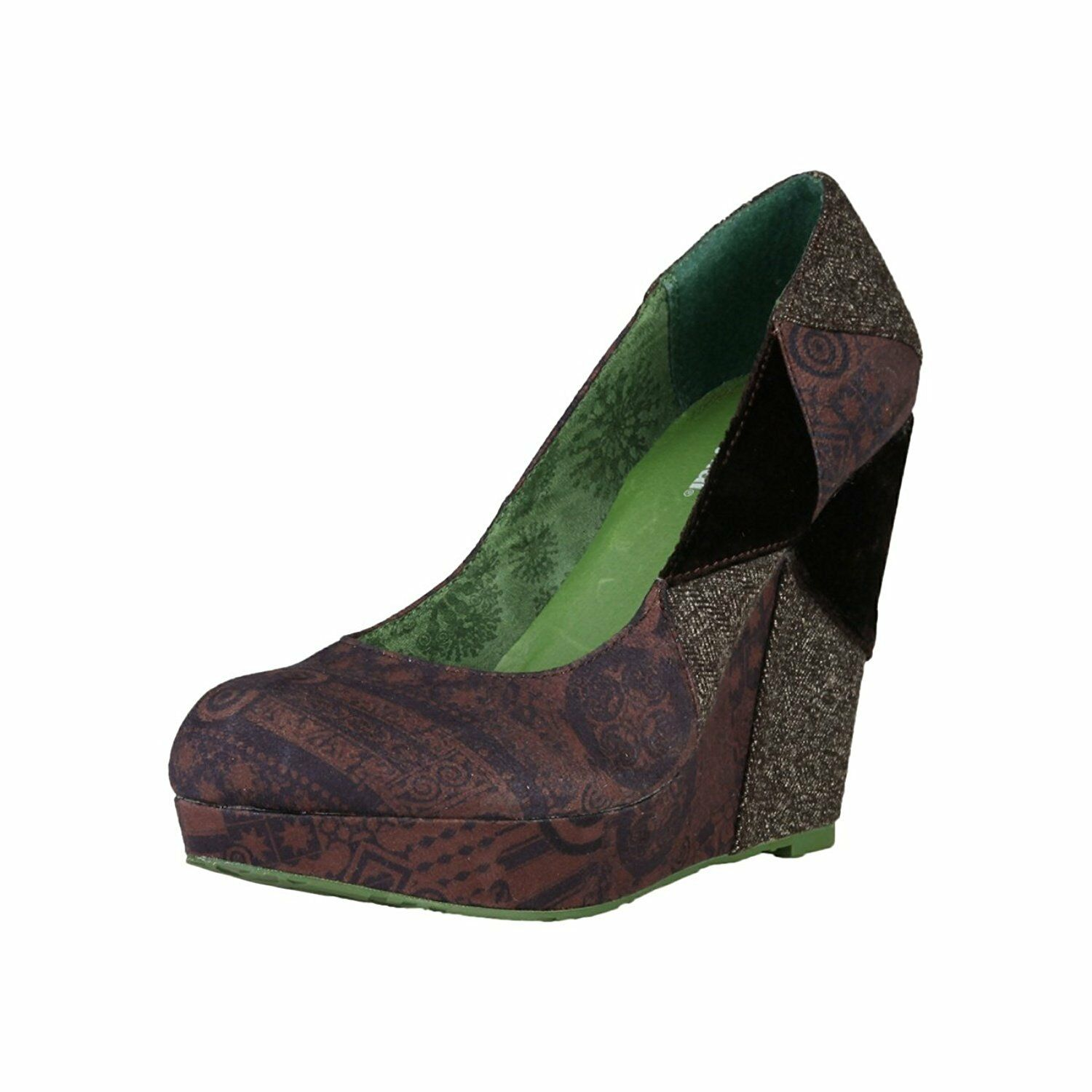 Desigual Rambo LADESS skor PUMPS WEDGE PUMPS WEDGES EU 38 UK 5 Multi -Färgade