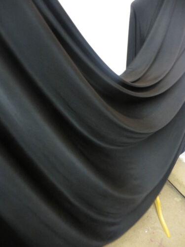 "1M BLACK    LYCRA  DRESS FABRIC 58/"" WIDE"