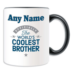 Personalised Gift World/'s Coolest Brother Mug Money Box Cup Novelty Relatives