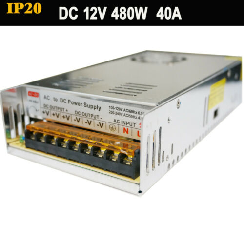 DC12V Top Qualité DEL Driver Alimentation Transformateur DEL Bande Lumière MR16 CCTV