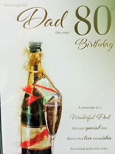 Image Is Loading Dad 80th Birthday Card