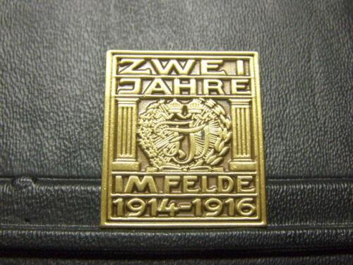 3,5 x 3 cm Pin 2 Jahre im Felde 1914-1916 Weltkrieg