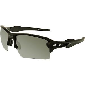 Oakley Flak 2.0 XL Matte Black Iridium Polarized Sunglasses OO9188-53