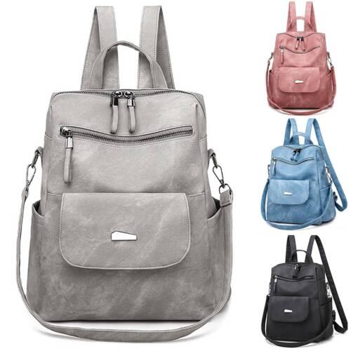 Women Vintage Backpack Girls College Rucksack Casual Ladies Shoulder Bag Satchel