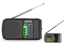 Axess PR3206 Portable/Rechargeable Mini AM/FM Radio +USB/TF Slot