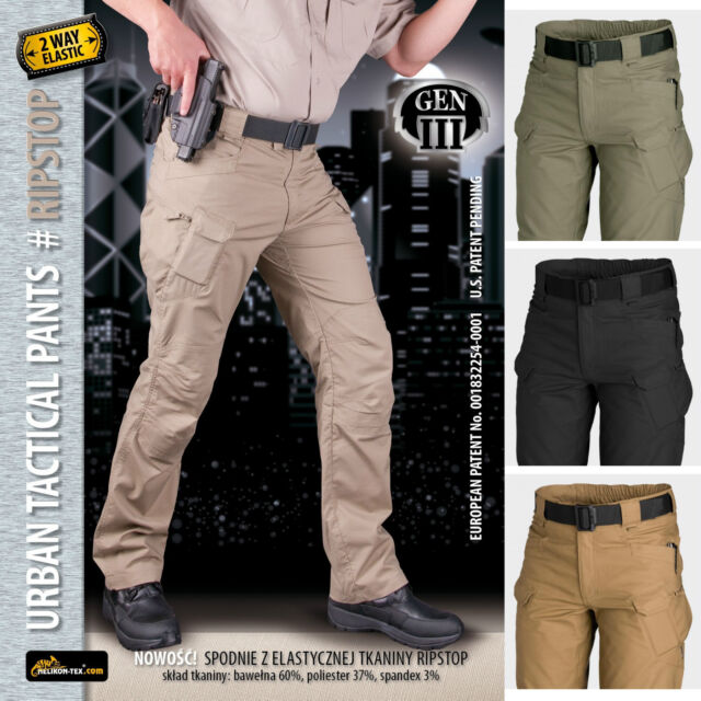 Pantalones Helikon-Tex Urban Tactical Pants Tácticos Airsoft Militar Outdoor UTP