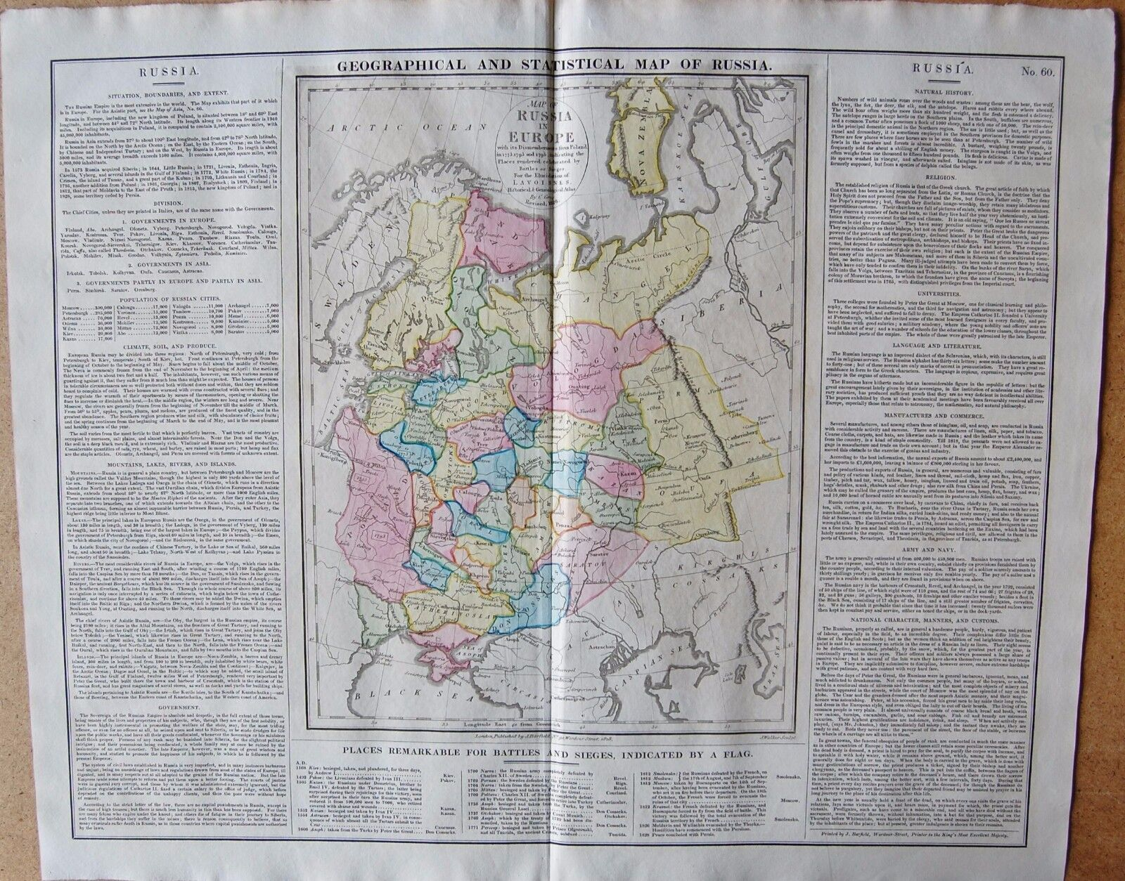 Europe maps maps atlases globes antiques 1829 antique map lavoisne geographical and statistical map of russia gumiabroncs Image collections