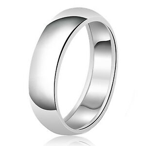 Bridal & Wedding Party Jewelry .925 Sterling Silver 8 Mm Comfort Fit Flat Wedding Band Ring Fine Quality