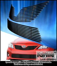Fits 2011-2013 Toyota Corolla Stainless Steel Billet Grille Insert Combo