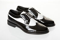 Mens Size 11 Black And White Spats Gangster 1920's Gatsby Wedding Prom Shoes