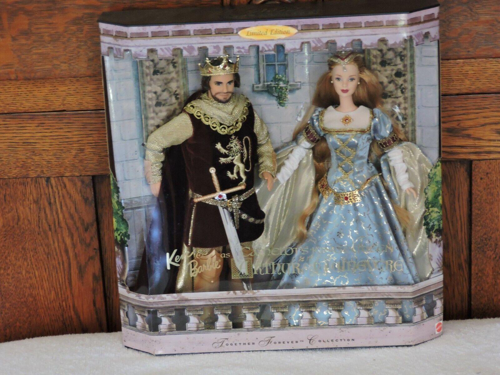 1999 nuevo Barbie y Ken Camelot Rey Arturo & Queen Guinevere juntos para siempre