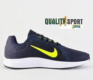 brand new 2b923 213d7 Chargement de l image en cours Nike-Downshifter-de-Chaussures-Sport-8 -Bleu-Jaune-