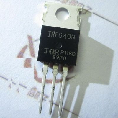 2PCS IRF640N 18A 200V TO-220 N-Channel Field effect transistor NEW