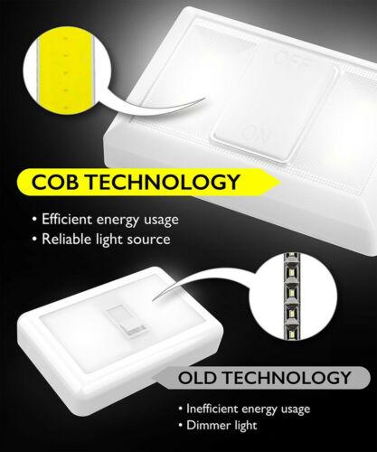 2PCS COB LED Flashlight Work Light Magnetic Battery Inspection Under Cabinet Clo