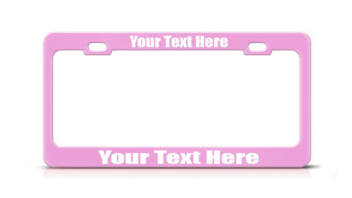Custom Made Personalized CHROME License Plate Frame COOPER Tag Cover Metal