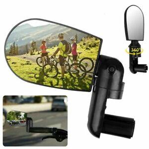360° Rotation Universal Cycling Handlebar Mini Rearview Mirror Rotatable