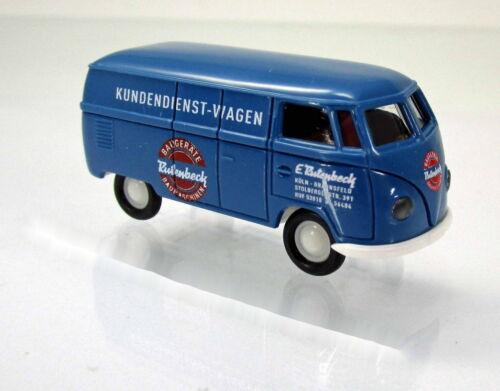 Brekina 32046 Volkswagen VW Kasten T1a Rutenbeck Scale 1 87 NEU OVP