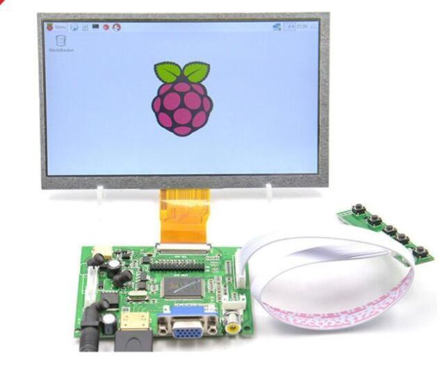 9 Inch LCD Display HDMI Monitor Touchscreen Module HDMI VGA 2AV TFT LCD Touch screen with Driver Board for Raspberry Pi. Garsent Screen Raspberry Pi