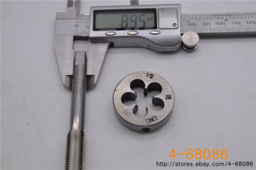 1pc 1//2-18 tap 1pc 1//2-18 die UNS British US made right hand taper