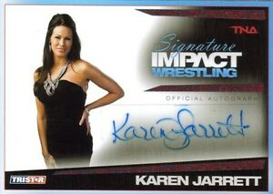 TNA-2011-Signature-Impact-Karen-Jarrett-Angle-RED-Autograph-Card-SN-3-of-5