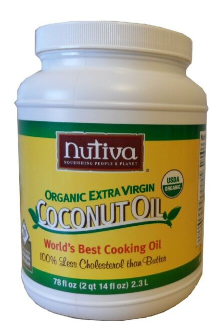 Nutiva 78oz Organic Unrefined Cold-Pressed Extra Virgin Coconut Oil