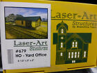 Branchline Laser-Art Structures HO #679 Yard Office - Kit (Laser-Cut Wood) --