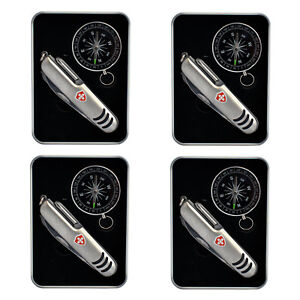 4x-Edelstahl-Taschenmesser-mit-Kompass-in-Geschenkbox-Multifunktionsmesser