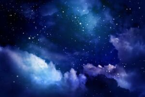 A1 | Blue Night Sky Poster Art Print 60 x 90cm 180gsm Stars Space Fun Gift #8745