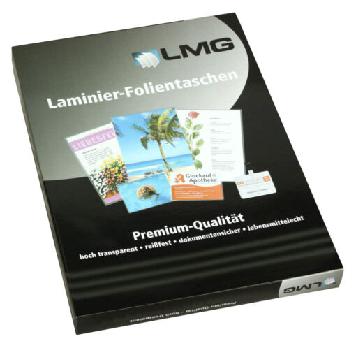 100 mic 100 LMG Laminierfolien glänzend für 6,7 x 9,9 cm