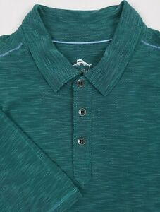 Tommy-Bahama-Polo-Shirt-XLarge-Mens-Teal-Green-Heathered-Short-Sleeve-Golf