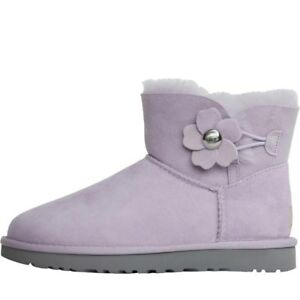 Ugg 40 Australia 7 Lilas Bottes 5 Eu Poppy Mini Nouveau Uk Button Bailey dFRwnpq