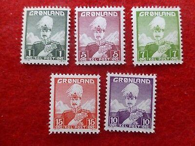 Grönland Produkte HeißEr Verkauf Europa Ernst Grönland 1938 Minr Gl 1-5 König Christian X Postfrisch Makellos!!