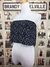 04047b761c946 Brandy Melville Yellow Flowy Cropped Cotton Cassidy Tube Top Sz Xs s ...
