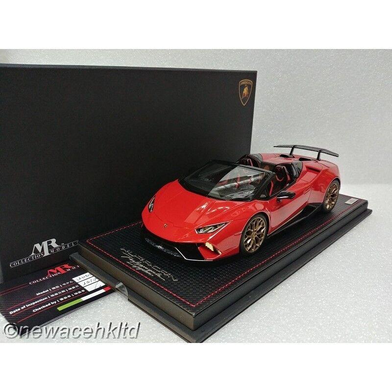 garantizado Lamborghini Huracan Temps Spyder rojo Marte mr Collection Collection Collection 1 18  LAMBO 030E  echa un vistazo a los más baratos