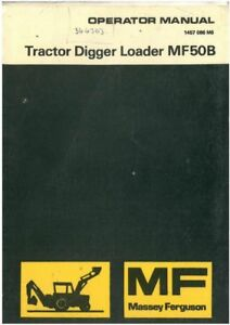 Massey Ferguson Tracteur Pelleteuse Tractopelle Manuel Mf50b 50b-afficher Le Titre D'origine Quell Summer Soif