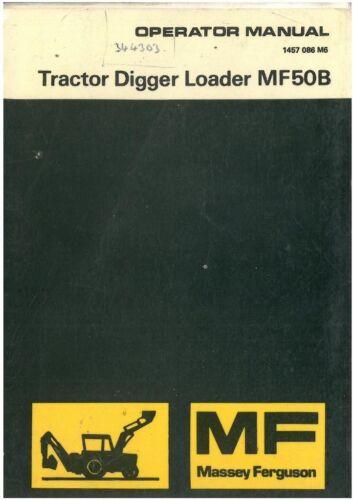 Massey Ferguson Tractor Cargador Digger MF50B Manual 50B