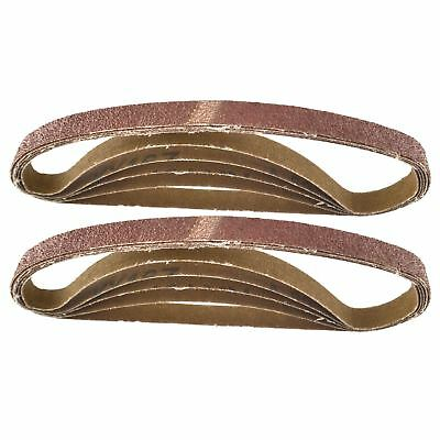 Belt Power Finger File Sander Abrasive Sanding Belts 330mm x 10mm 80 Grit 20 P