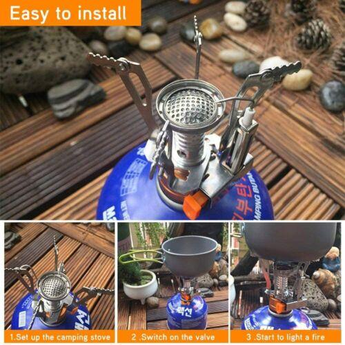 Tragbarer Outdoor Gasherd Camping Butangasbrenner Faltbare Elektronik